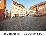 view on the central square with ... | Shutterstock . vector #1190904550
