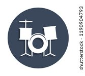 drums icon in badge style. one...