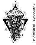 mystical symbol of adventure ... | Shutterstock .eps vector #1190905543