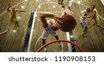 basketball players on big... | Shutterstock . vector #1190908153