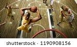 basketball players on big... | Shutterstock . vector #1190908156