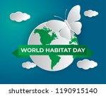 world habitat day illustration...