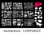 giant set of black brush... | Shutterstock .eps vector #1190918413