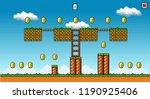 8 bit pixel art platformer game ...