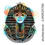 pharaoh tattoo art t shirt... | Shutterstock .eps vector #1190925700