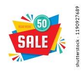 sale   vector creative banner... | Shutterstock .eps vector #1190927689