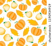 autumn cartoon vegetable and...