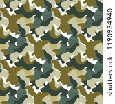 vector camouflage green and...   Shutterstock .eps vector #1190934940