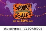 spooky halloween sale up to 30  ... | Shutterstock .eps vector #1190935003