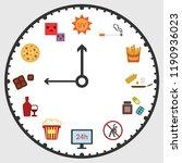 vector illustration of clock... | Shutterstock .eps vector #1190936023