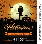 halloween  october thirty first ... | Shutterstock .eps vector #1190936950