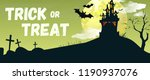 trick or treat lettering with... | Shutterstock .eps vector #1190937076