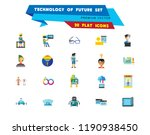 technology of future icon set.... | Shutterstock .eps vector #1190938450