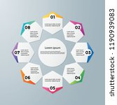 infographic template modern... | Shutterstock .eps vector #1190939083