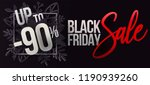 black friday design with paper... | Shutterstock .eps vector #1190939260