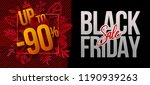 black friday design with red... | Shutterstock .eps vector #1190939263