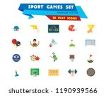 sport games icon set. champions ... | Shutterstock .eps vector #1190939566