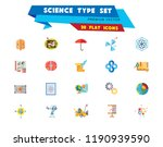science type icon set.... | Shutterstock .eps vector #1190939590