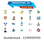 programming icon set. robot... | Shutterstock .eps vector #1190939593