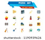 music icon set. trumpet player... | Shutterstock .eps vector #1190939626