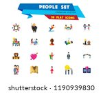 people icon set. family showing ... | Shutterstock .eps vector #1190939830