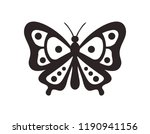 black butterfly. abstract... | Shutterstock .eps vector #1190941156