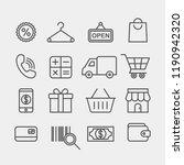 shopping flat vector icons set. ... | Shutterstock .eps vector #1190942320