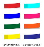post note stickers isolated on... | Shutterstock .eps vector #1190943466