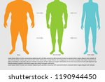 bmi or body mass index...   Shutterstock .eps vector #1190944450
