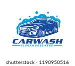 car wash logo template | Shutterstock .eps vector #1190950516