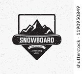collection of snowboarding... | Shutterstock .eps vector #1190950849