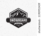 collection of snowboarding... | Shutterstock .eps vector #1190952439