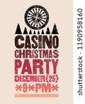 casino christmas party...   Shutterstock .eps vector #1190958160