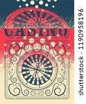 casino typographical vintage...   Shutterstock .eps vector #1190958196