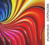 3d colorful abstract background ... | Shutterstock . vector #1190962306