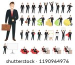 businessman cartoon character... | Shutterstock .eps vector #1190964976