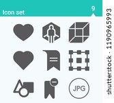 contains such icons as virtual... | Shutterstock .eps vector #1190965993