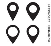 maps pin. location map icon.... | Shutterstock .eps vector #1190966869