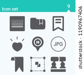 contains such icons as social ... | Shutterstock .eps vector #1190967406