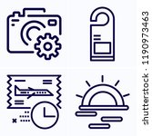 simple set of 4 icons related... | Shutterstock .eps vector #1190973463