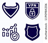 simple set of 4 icons related... | Shutterstock .eps vector #1190984206