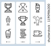 simple set of  9 outline icons... | Shutterstock .eps vector #1190986300