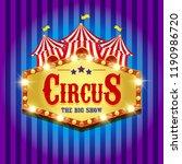 carnival banner. circus. fun... | Shutterstock . vector #1190986720