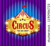 carnival banner. circus. fun... | Shutterstock . vector #1190986723