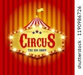 carnival banner. circus. fun... | Shutterstock . vector #1190986726