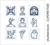 simple set of 9 icons related... | Shutterstock .eps vector #1190987530