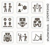 simple collection of people... | Shutterstock .eps vector #1190993440