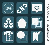 contains such icons as cubes ... | Shutterstock .eps vector #1190997229