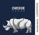 rhino beast splash | Shutterstock .eps vector #1190999593