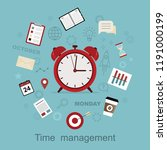 time management concept...   Shutterstock .eps vector #1191000199